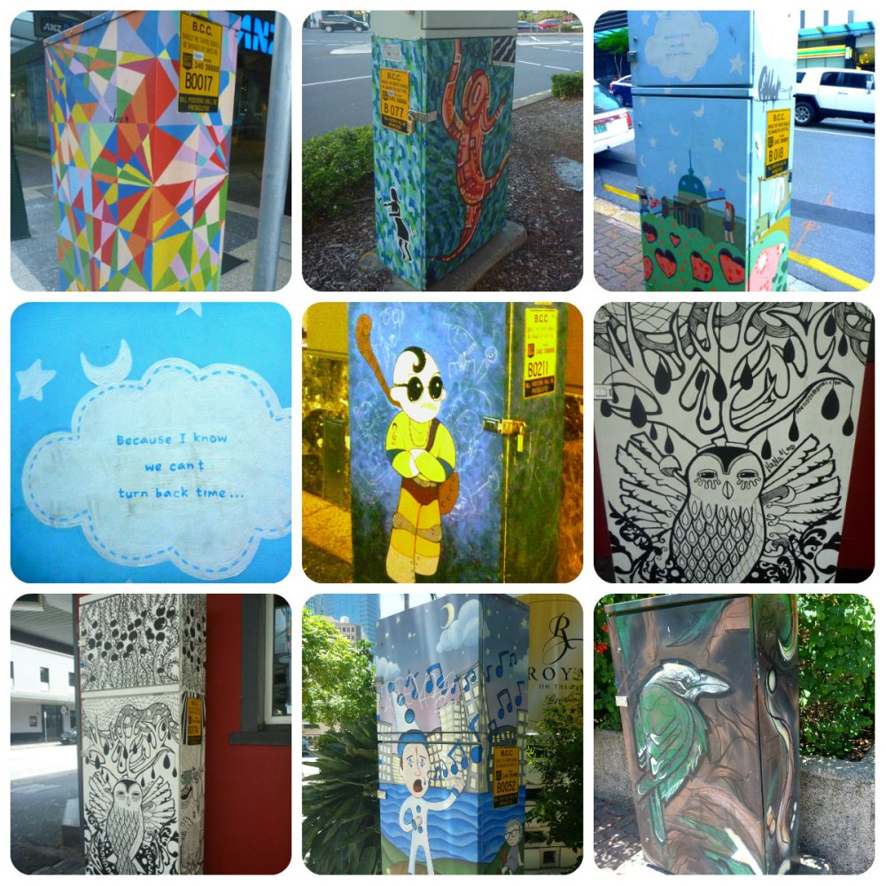 collage Brissy Painted Boxes