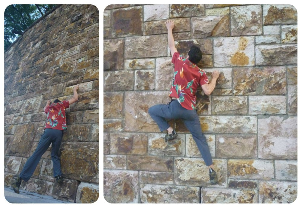 collage mic climb wall brissy
