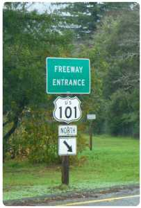 freeway 101 sign