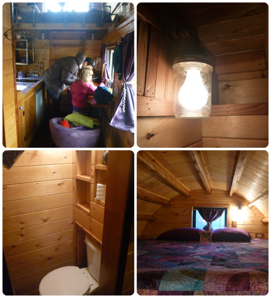 collage caravan tiny house inside
